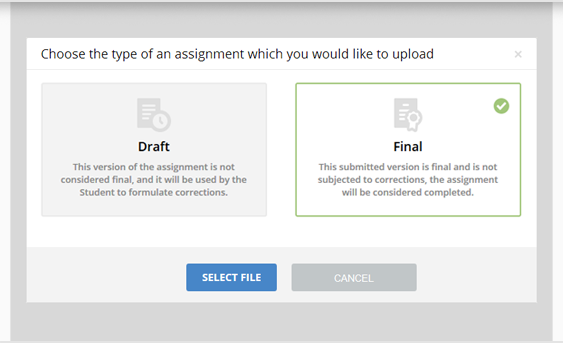Upload the Completed Assignment